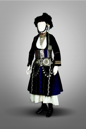 A bridal costume of Alexandria, Imathia and Macedonia, which dates from the early 20th Century.