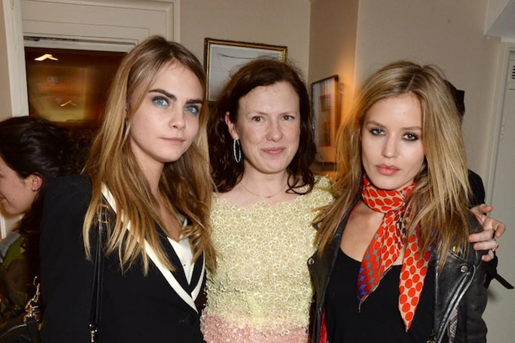 Cara Delevingne, Katie Grand and Georgia May Jagger