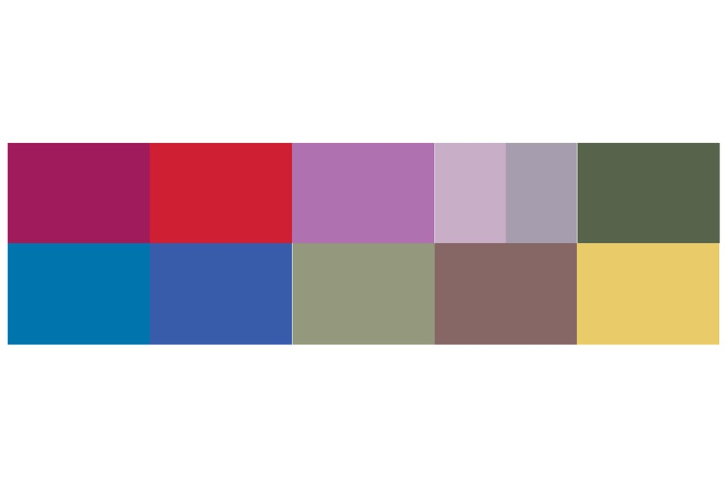 Key colors for Fall 2014.