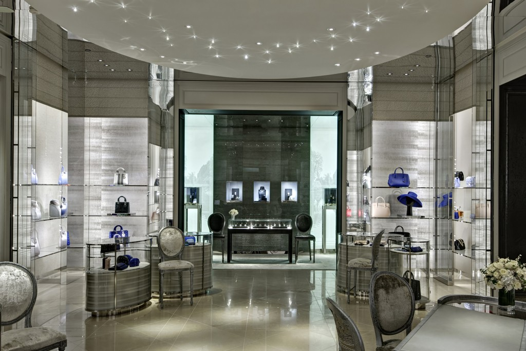 A view of the Dior Boutique at the DFS Galleria Waikiki in Honolulu.