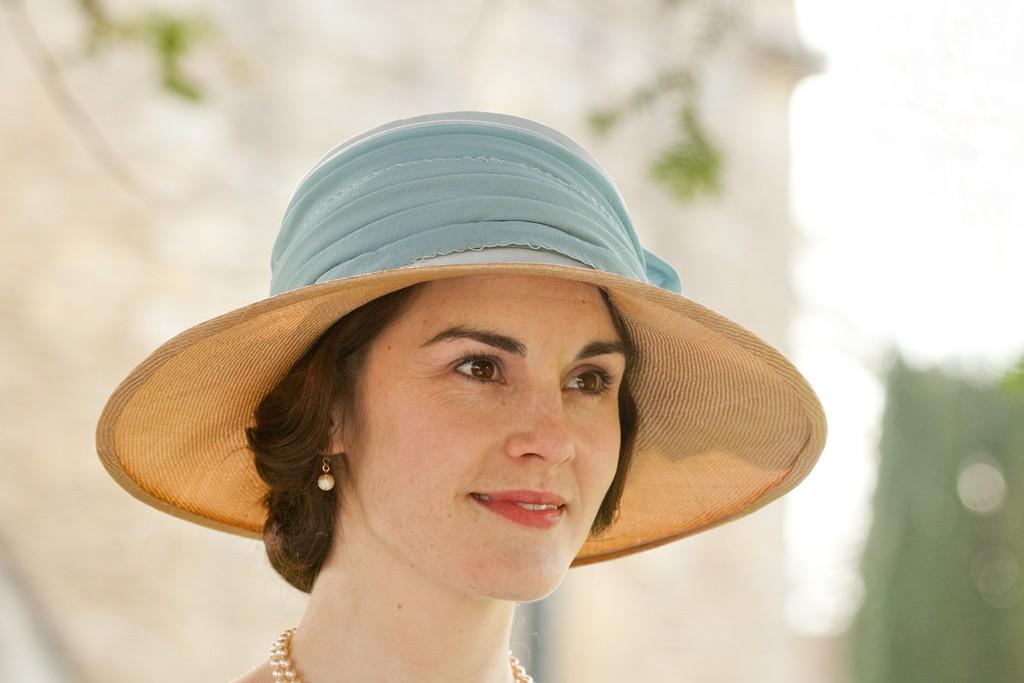 Michelle Dockery as Lady Mary Crawley.