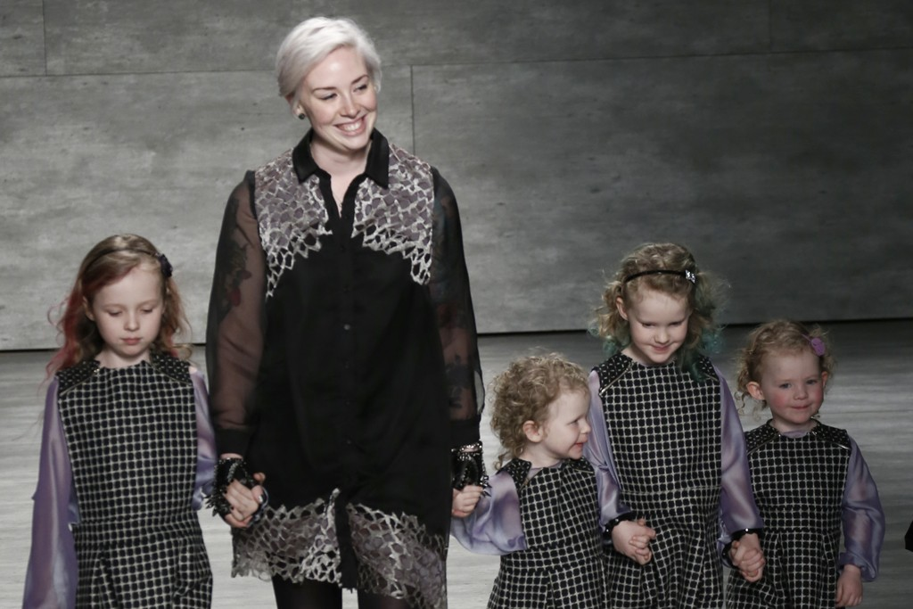 Jackie Fraser-Swan walks the runway with her four daughters.
