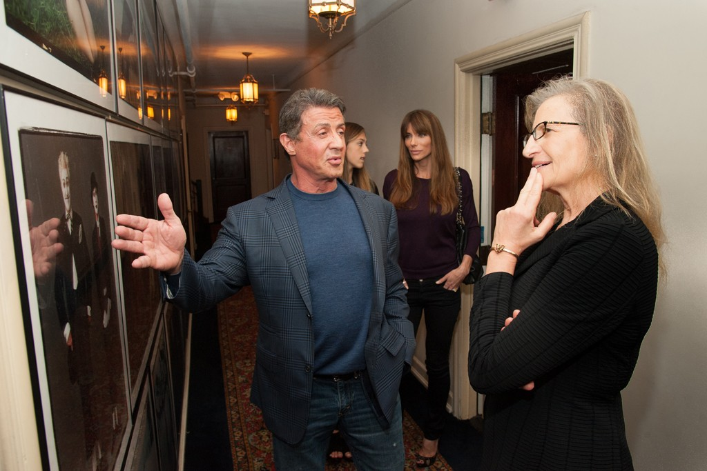 Sylvester Stallone and Annie Leibovitz