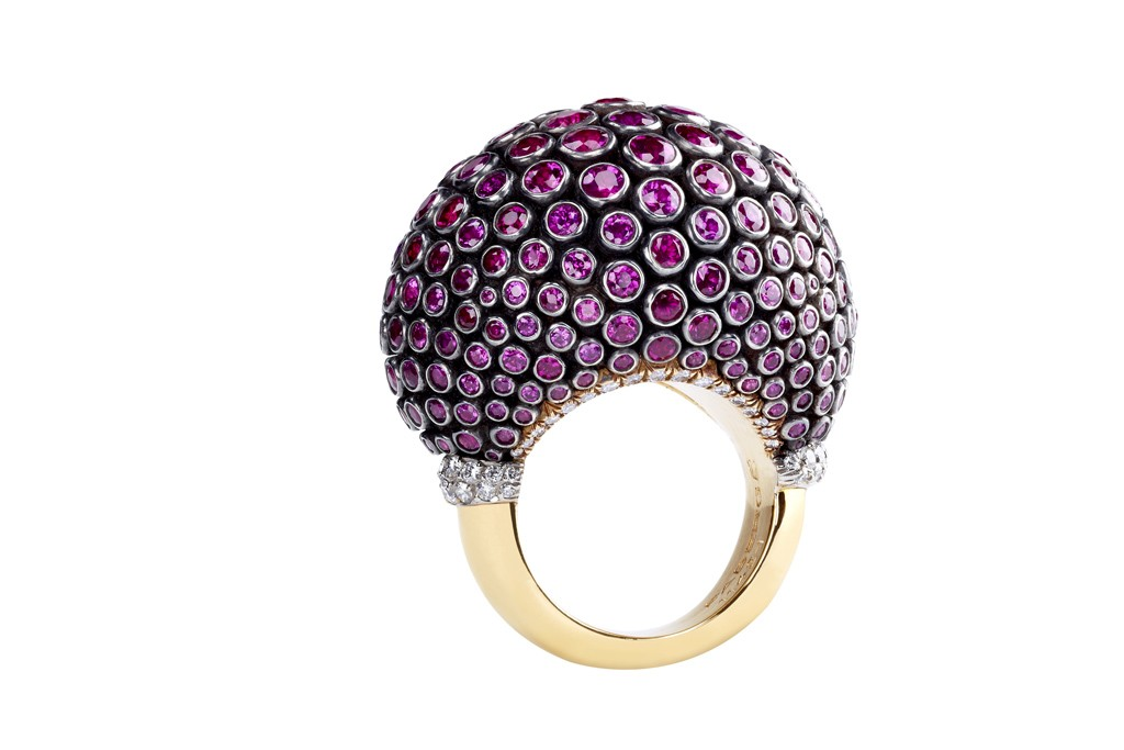 Fabergé's Kalinka Ruby Ring designed by Zaavy.