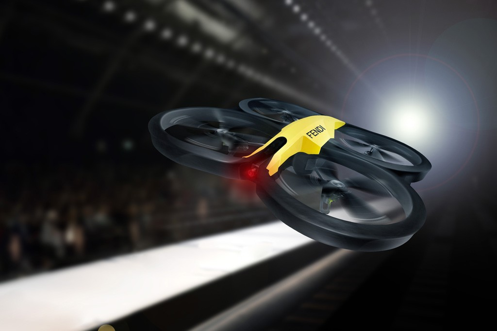 """The """"Drone Cam"""" from Fendi's collaboration with Google."""