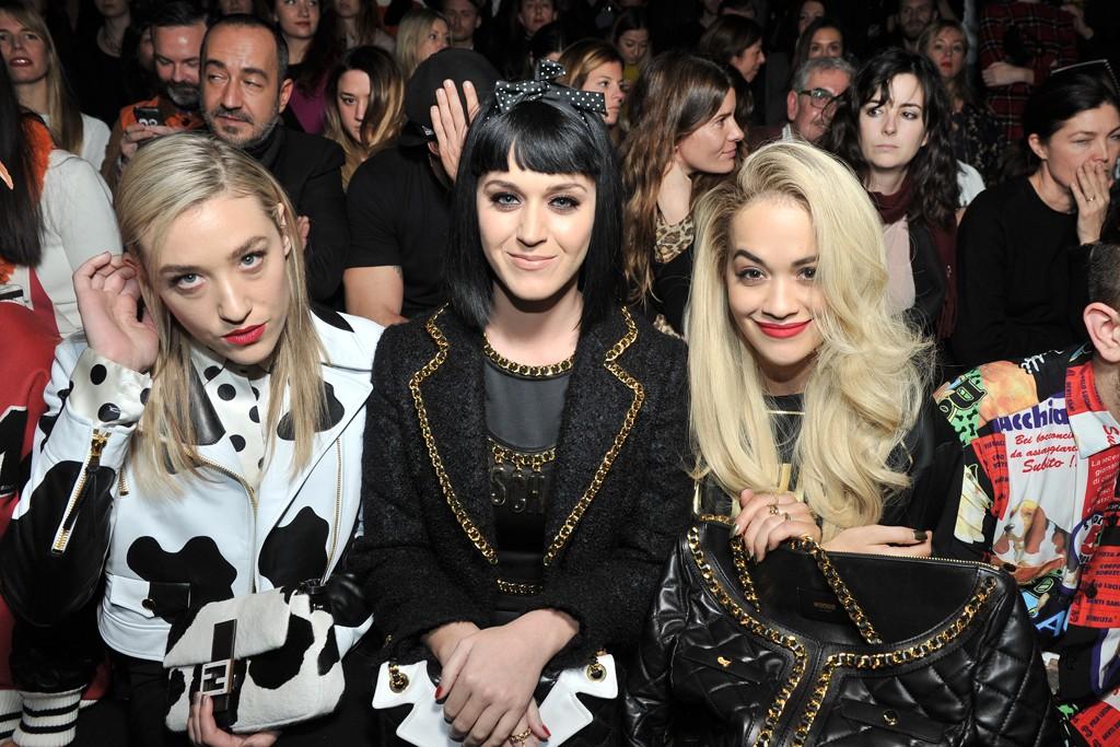 Mia Moretti, Katy Perry, and Rita Ora.