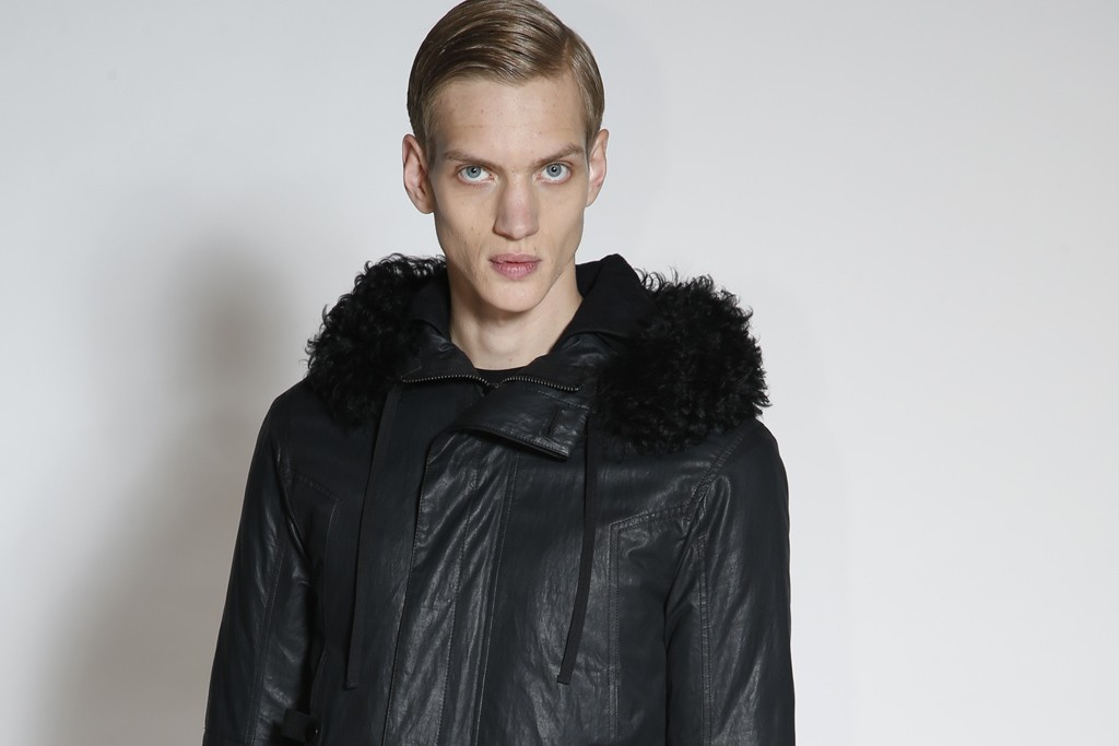 A look from the Helmut Lang fall collection designed by Alexandre Plokhov.
