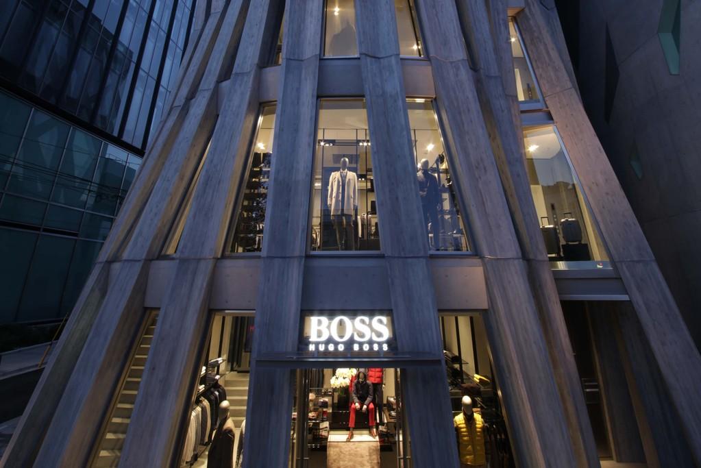 A view of Hugo Boss' new Tokyo flagship.