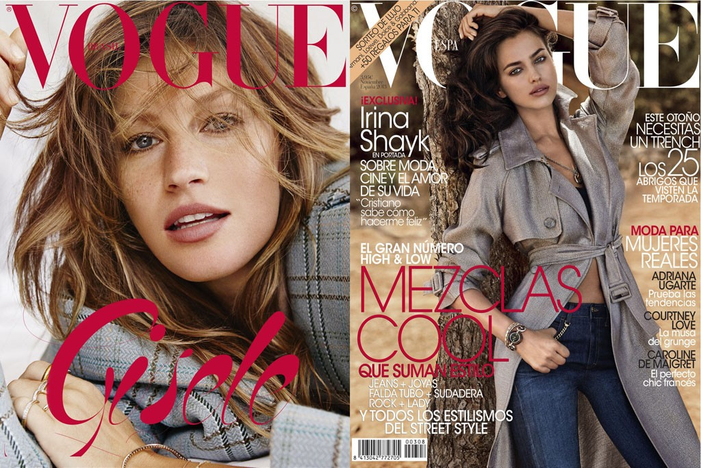 Giampaolo Sgura's covers for international editions of Vogue.