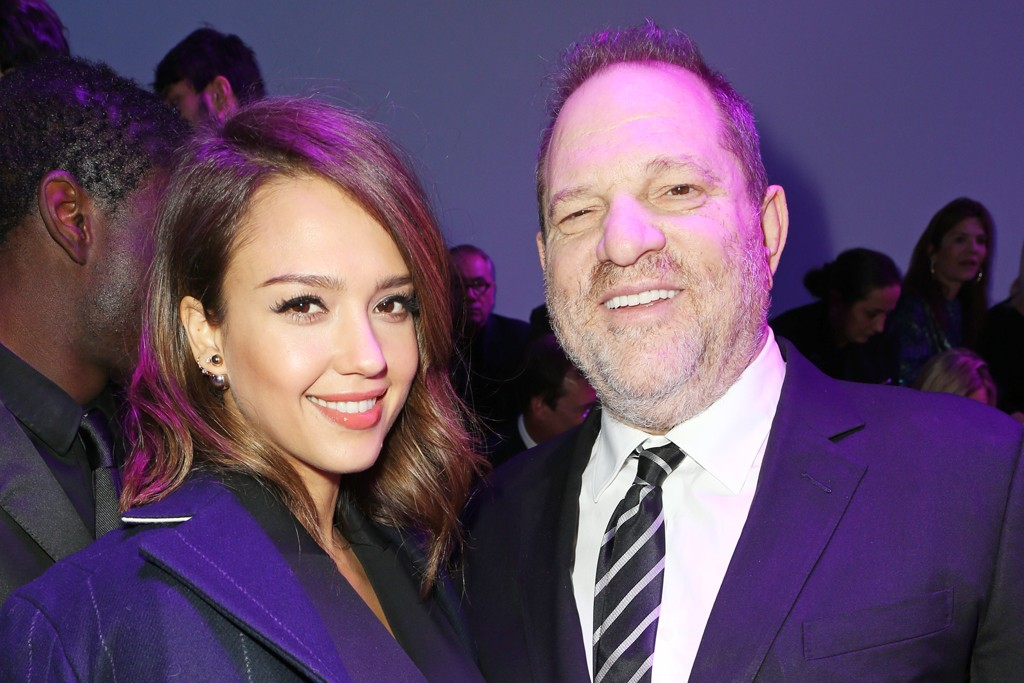 Jessica Alba and Harvey Weinstein