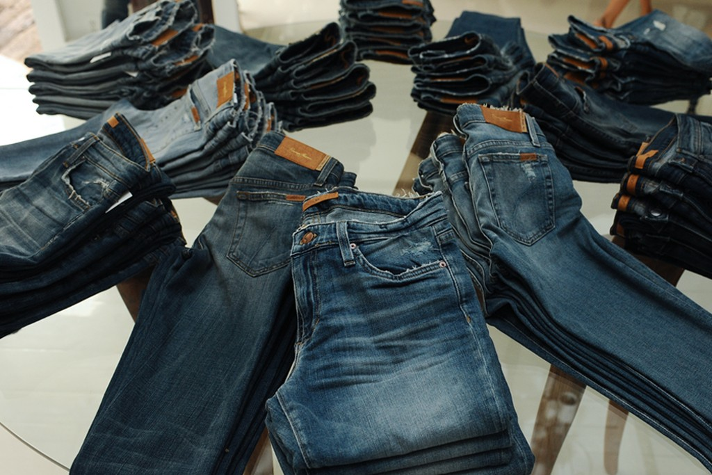 Inside the Joe's Jeans flagship on Melrose Place.