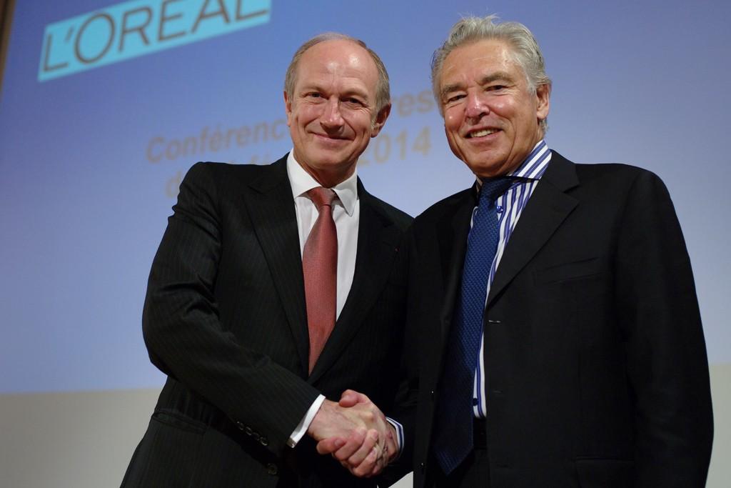 L'Oréal's Jean-Paul Agon and Nestlé's Peter Brabeck-Letmathe