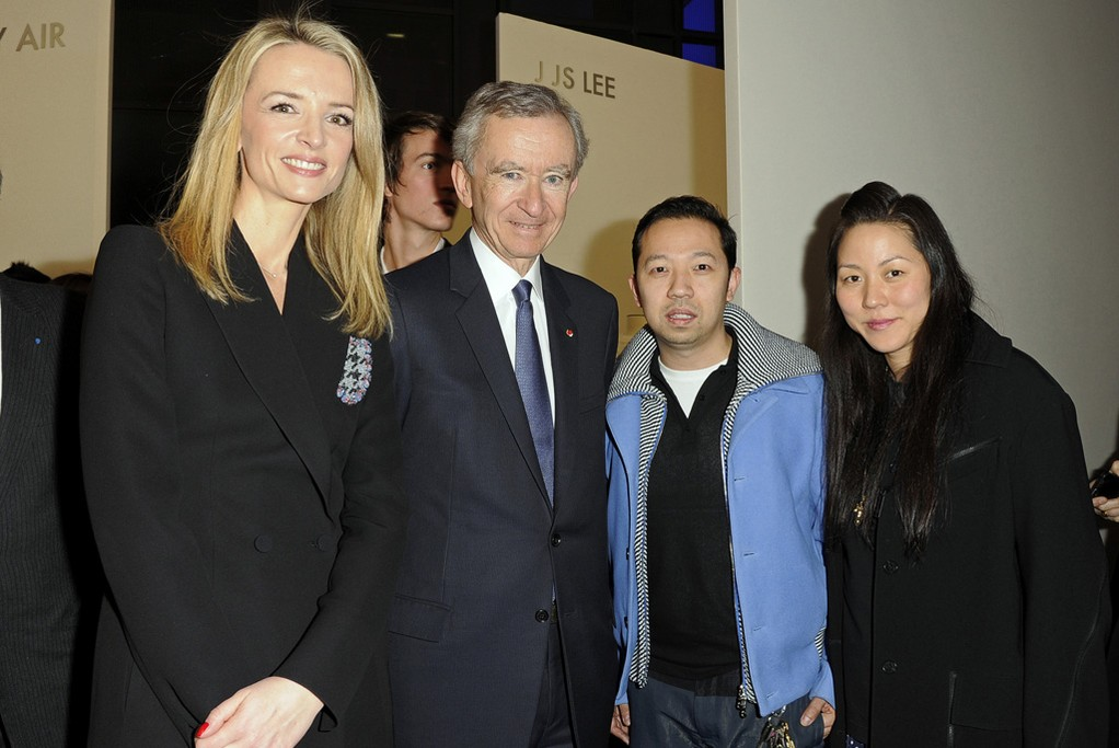 Delphine and Bernard Arnault with Humberto Leon and Carol Lim
