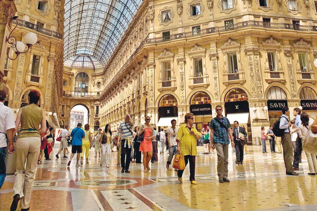 Milan's Galleria Vittorio Emanuele II.