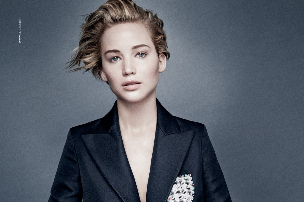 Jennifer Lawrence in the Dior campaign.