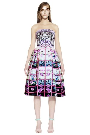A look from Mary Katrantzou's limited edition collection for Lyst.