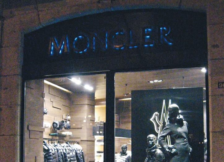 A Moncler store.
