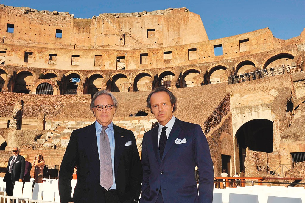 Diego and Andrea Della Valle of Tod's, which is sponsoring the restoration of the Colosseum.