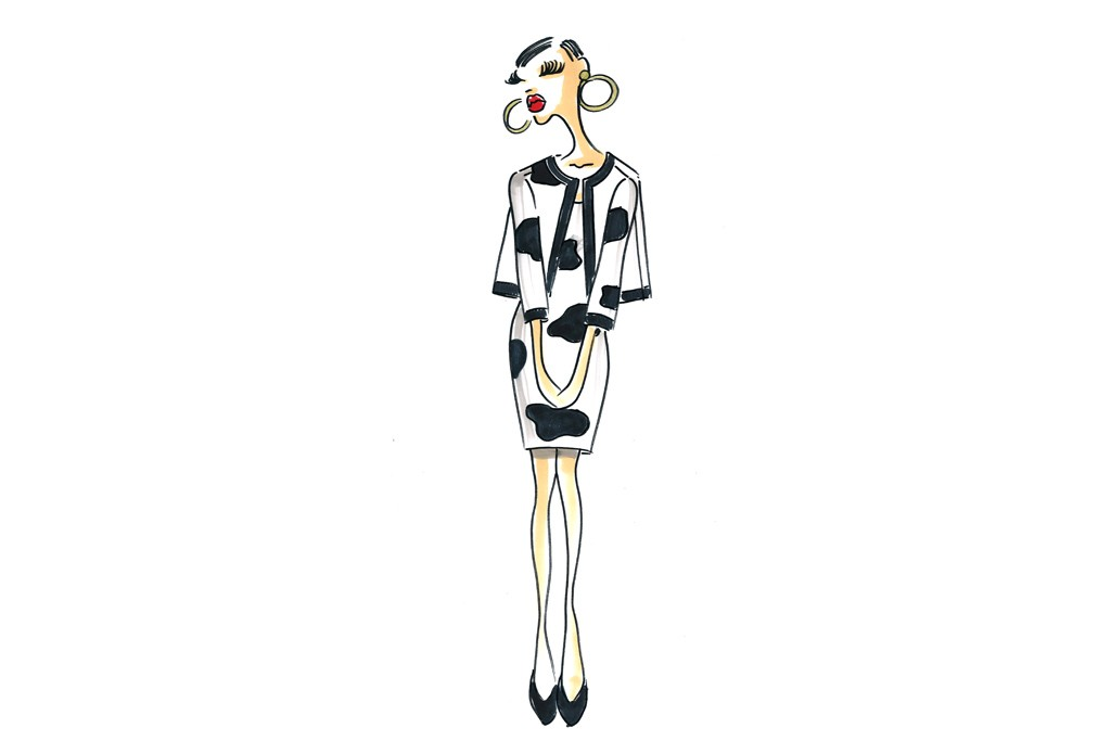 Jeremy Scott sketches from the Moschino collection.