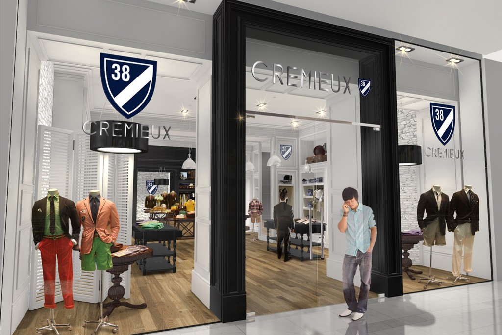A rendering of the Daniel Cremieux store in SoHo.