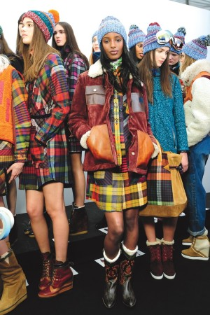 Backstage at Tommy Hilfiger RTW Fall 2014