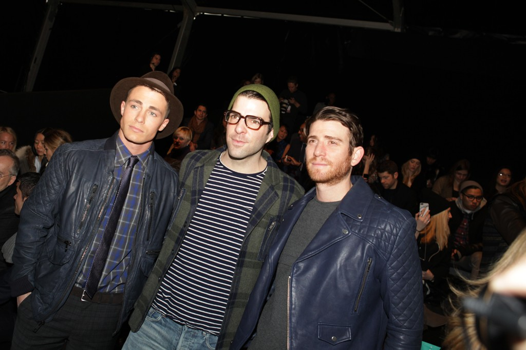 Colton Haynes, Zachary Quinto and Bryan Greenberg.