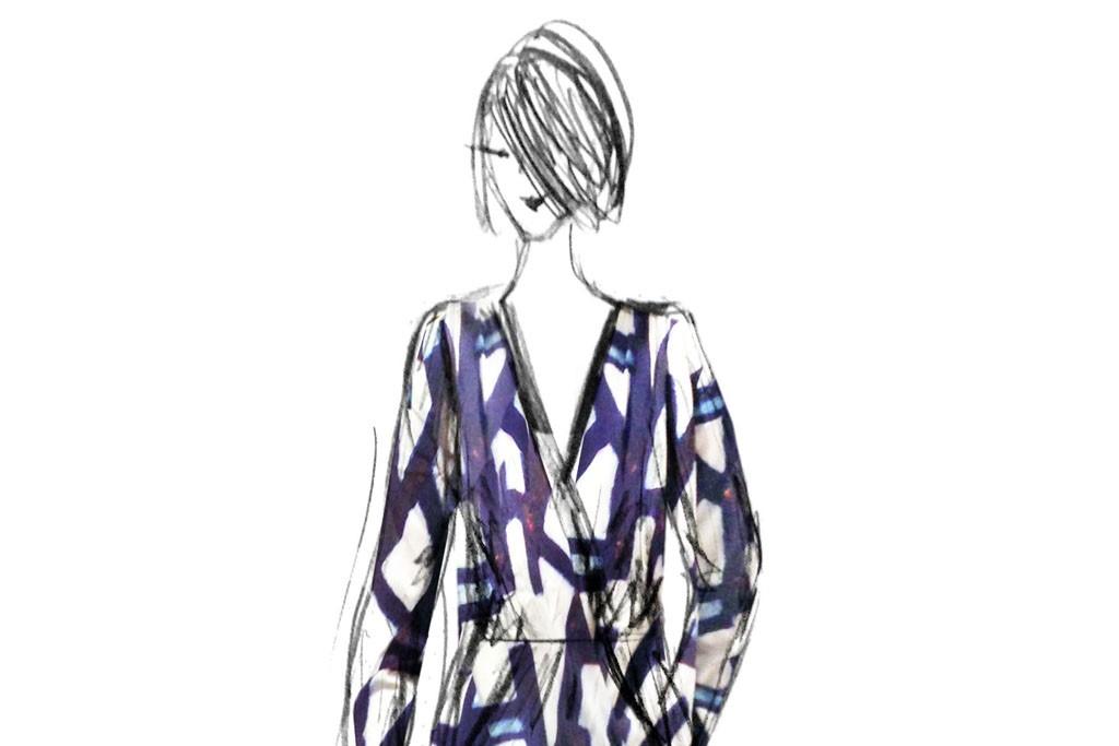 A sketch of Sam & Lavi's jumpsuit, codesigned with ENK Vegas'  Sunni Spencer.