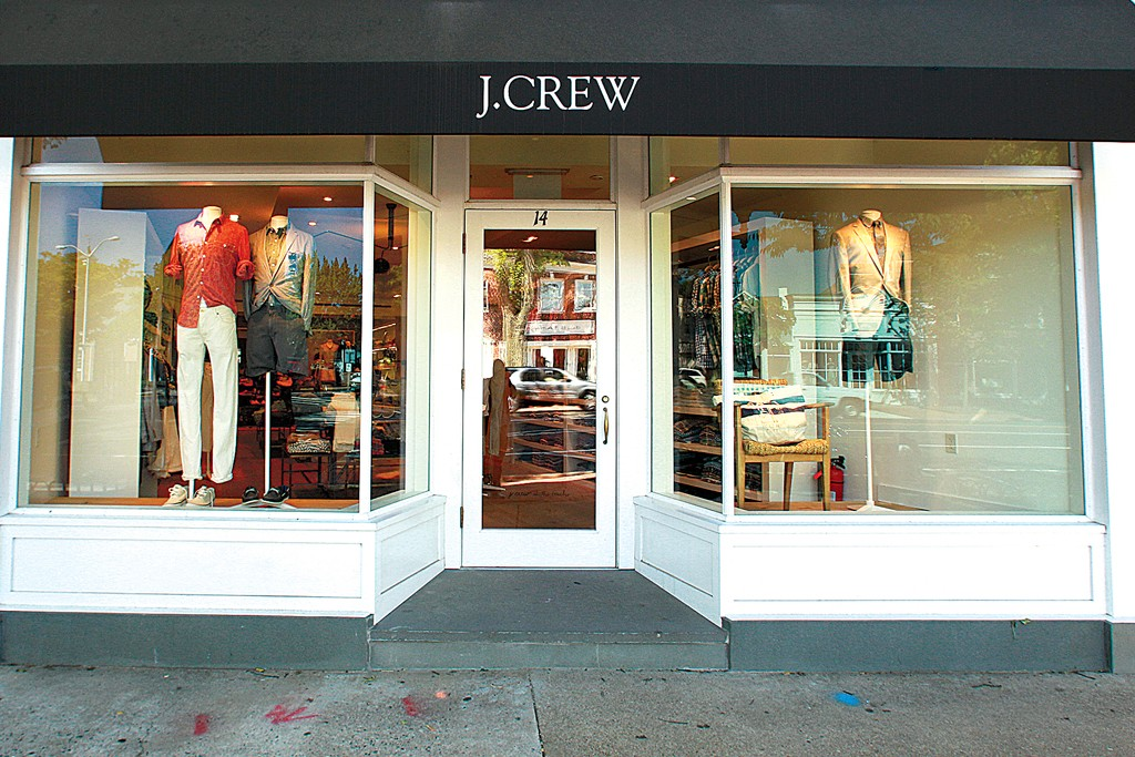 The exterior of a J. Crew store.