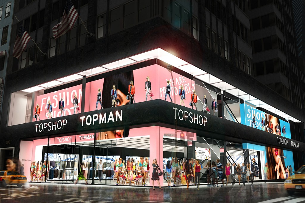 A rendering of the Topshop flagship on Fifth Avenue.