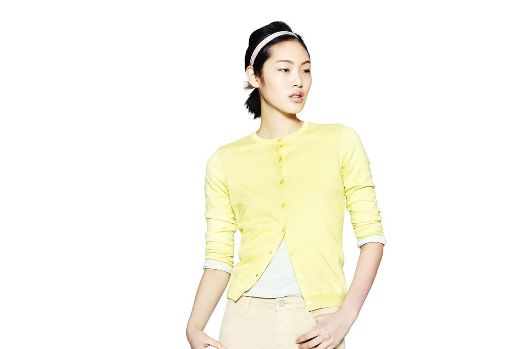 A look from Uniqlo's new Supima cotton range.