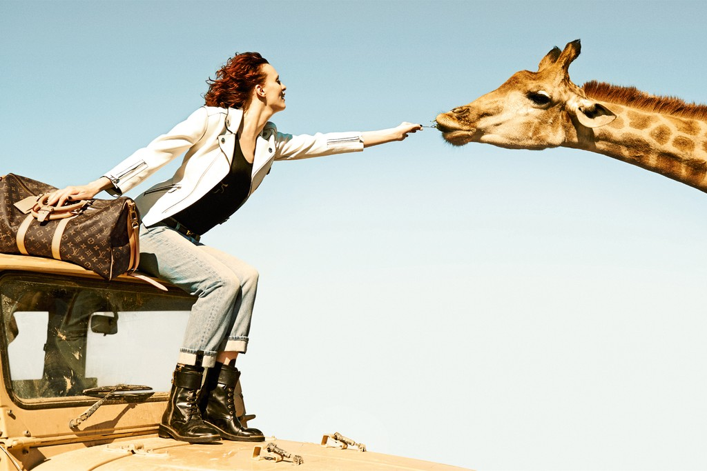A visual from Louis Vuitton's ad campaign.