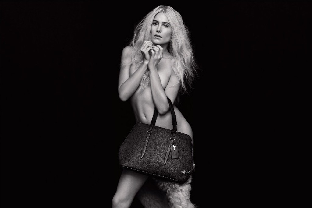 Dree Hemingway in an ad visual for Agnona.