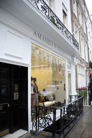 The Amanda Wakeley store on Albemarle Street in Mayfair, London.