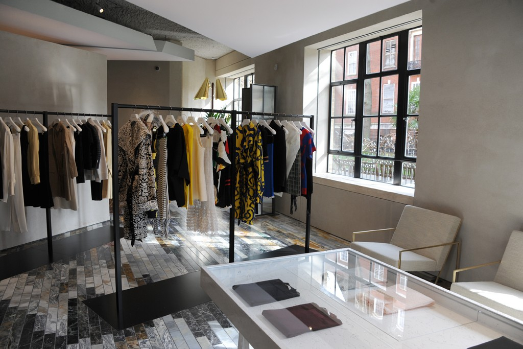 Views of the Céline store on Mount Street in London.