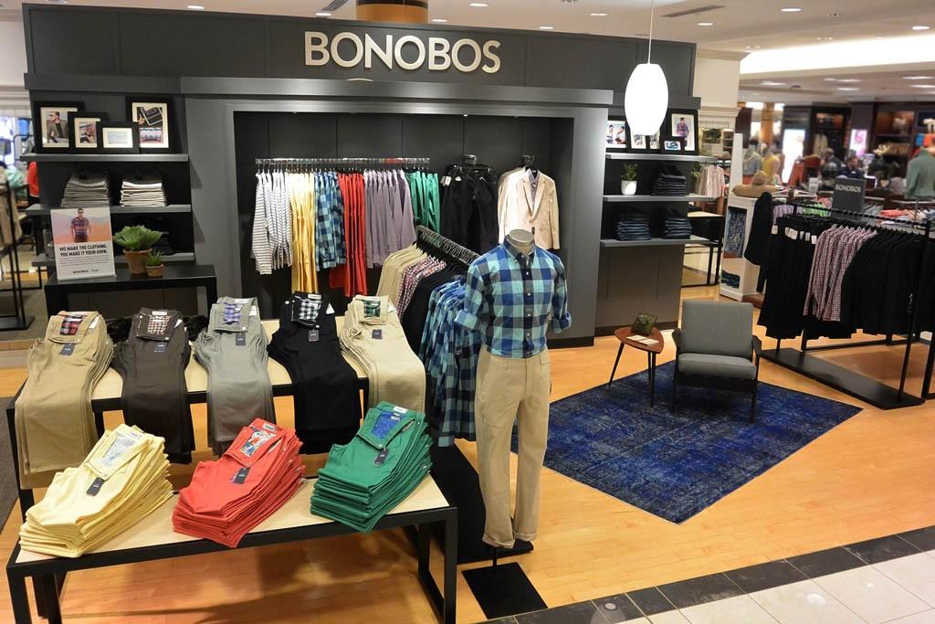 The Bonobos shop inside Belk in Charlotte, N.C.
