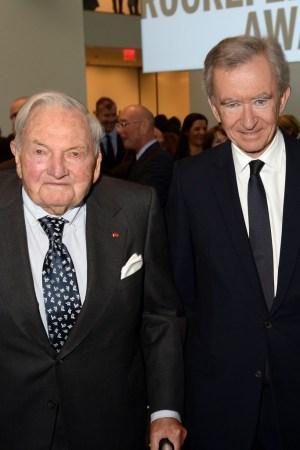 David Rockefeller and Bernard Arnault