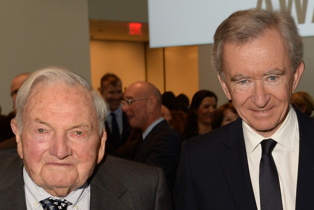 David Rockefeller and Bernard Arnault