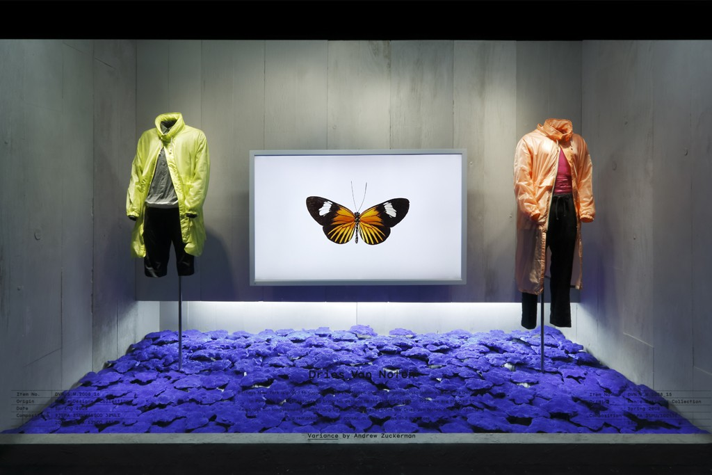 Barneys' windows feature a collaboration between Van Noten and Zuckerman, as well as Dennis Freedman, the store's creative director.
