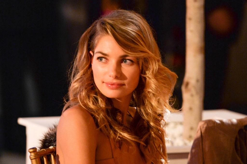 Jessica Hart in Salvatore Ferragamo.