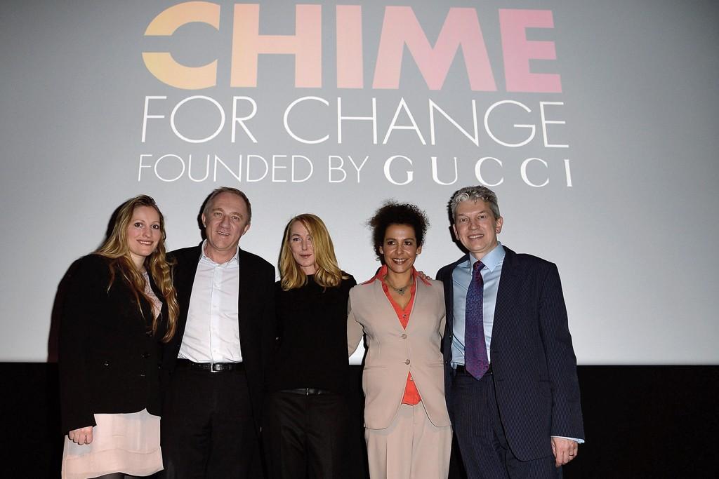 Laura Bates, François-Henri Pinault, Frida Giannini, Mariane Pearl and Peter Soer.