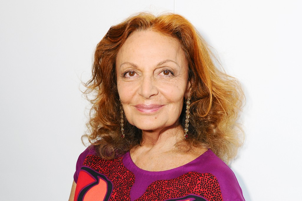 Diane von Furstenberg in Tokyo for her fall collection.