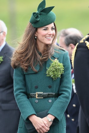 The Duchess of Cambridge on St. Patrick's Day.