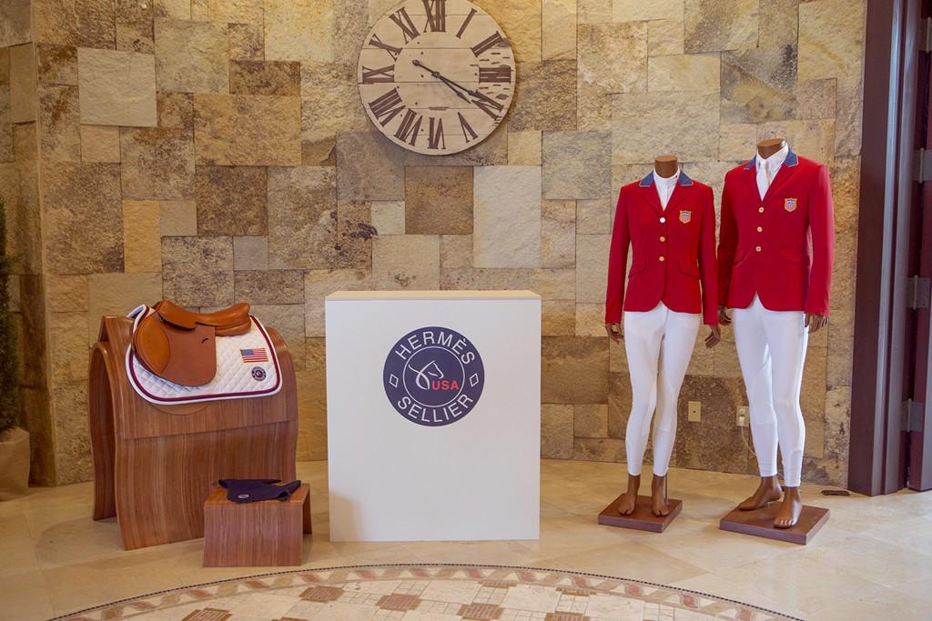Hermès items on display in Florida.