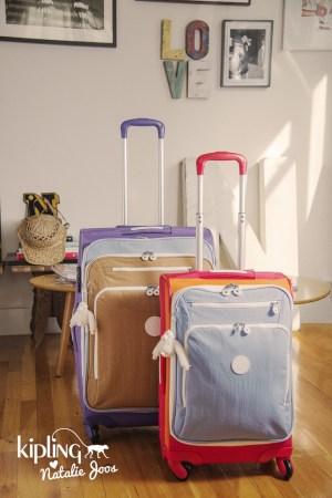 Kipling luggage designed by Natalie Joos.
