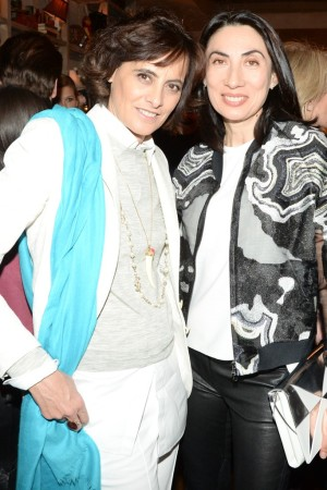 Ines de la Fressange and Anh Duong celebrate the Miro Duma Spring 2014 collection.