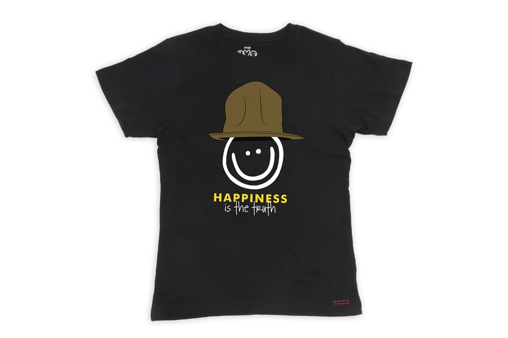 A T-shirt from Peace Love World and Pharrell Williams.