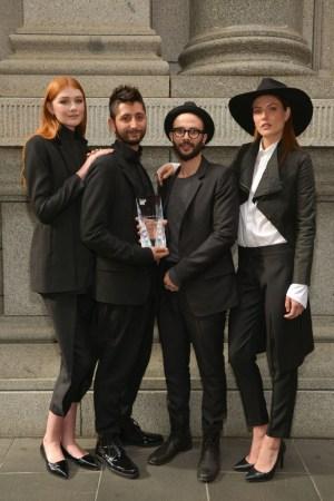 Stateas.Carlucci at the Melbourne Fashion Festival.