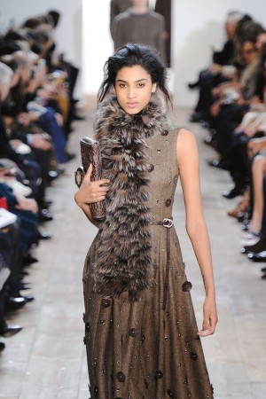 Imaan Hammam on the runway at Michael Kors.