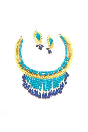 Elisa Nalin earrings and necklace for Gripoix