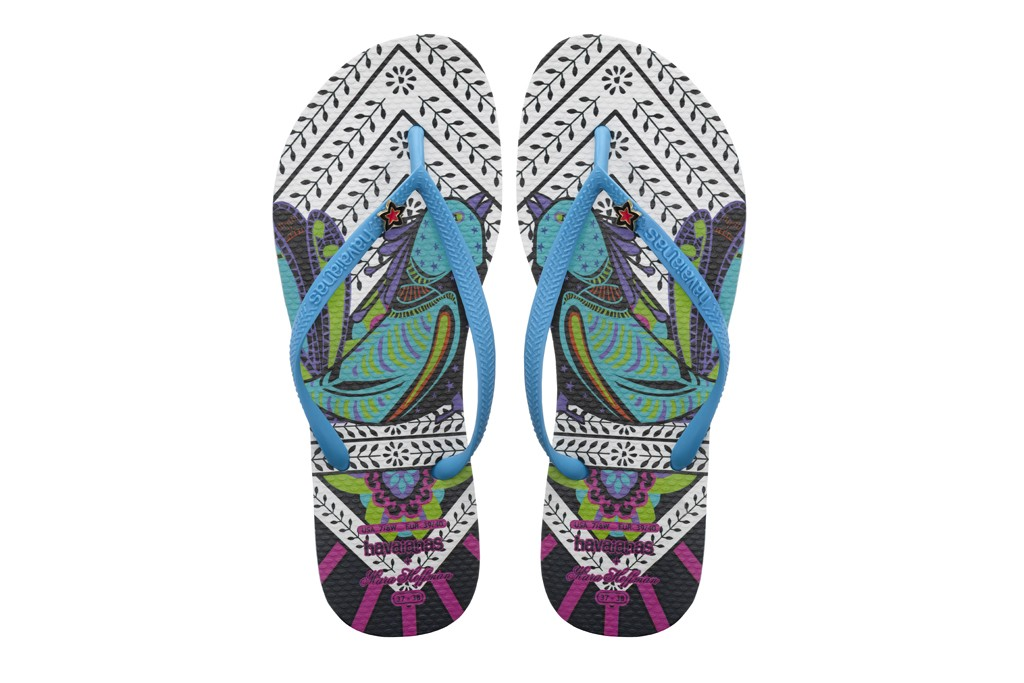 A look from the Havaianas and Mara Hoffman collaboration.